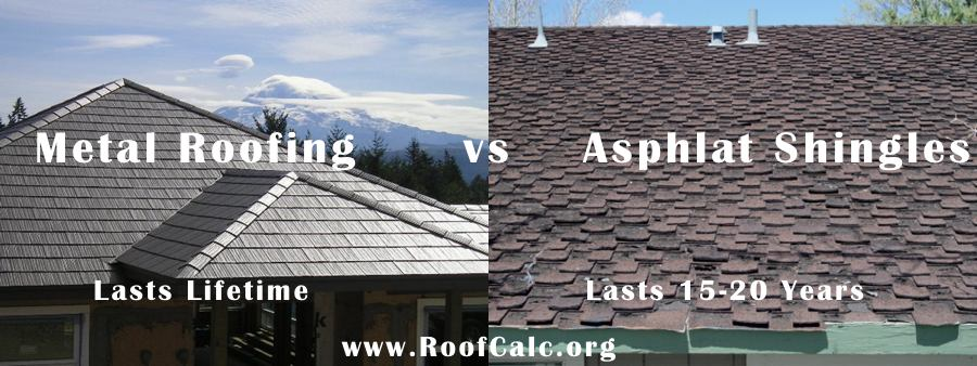 Metal Roofing Vs Asphalt Shingles Roofcalc Org
