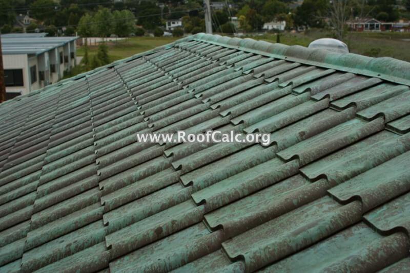 Aged Copper Metal Tile Roof