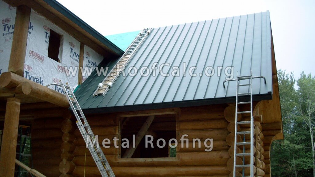 Log House Metal Roof