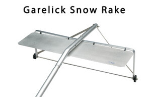 Roof Snow Rake With Rollers - Snow Cutting