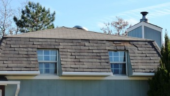 mansard roof shingles falling off