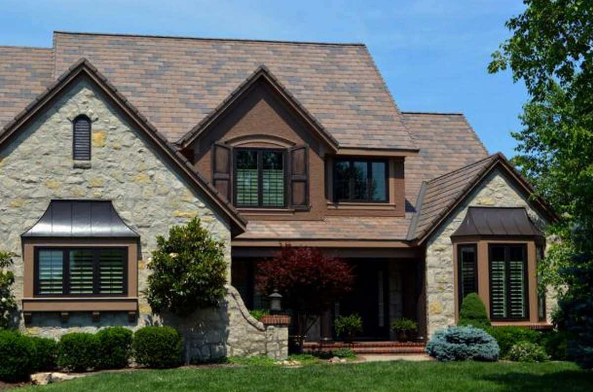 Multicolored Synthetic Slate Roofing