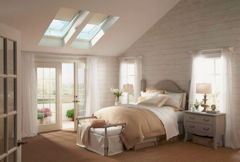 Bedroom skylights with good ventilation