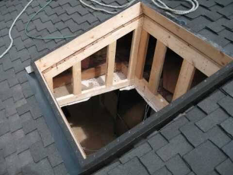 Framed Out Skylight Opening Shaft Roofcalc Org