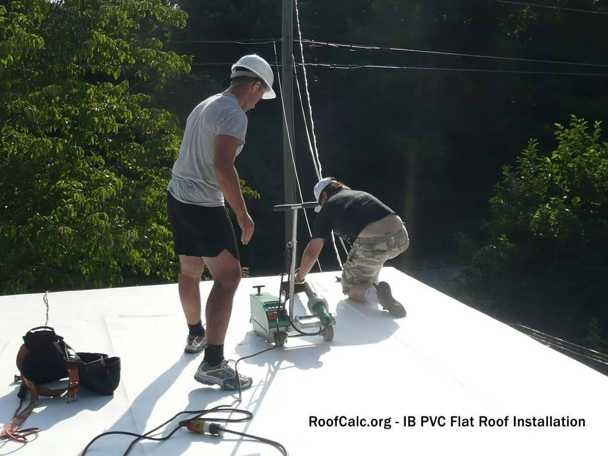 IB PVC Flat Roof Installation