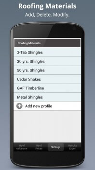 Roof-Calc-PRO-Screenshot-4-Roofing-Materials