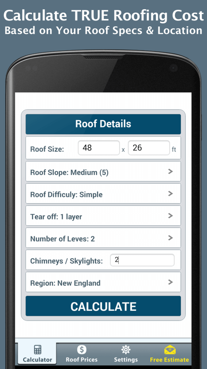 Roof Calculator FREE | RoofCalc.org