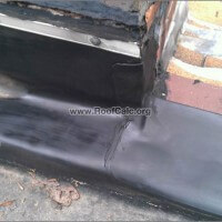 Cleaning outside corner on rubber roof
