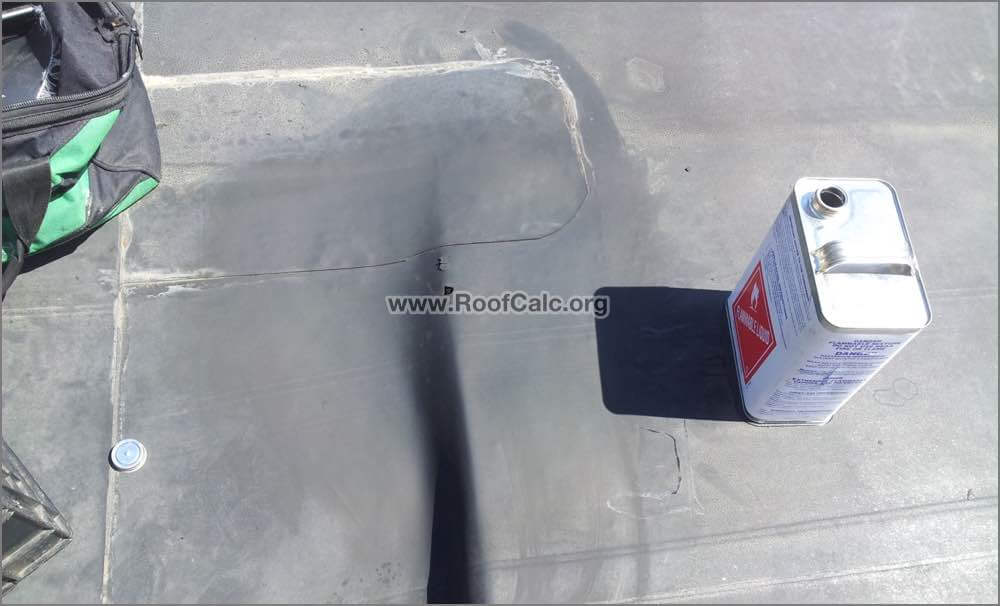 EPDM Roof Cleand - ready for repair