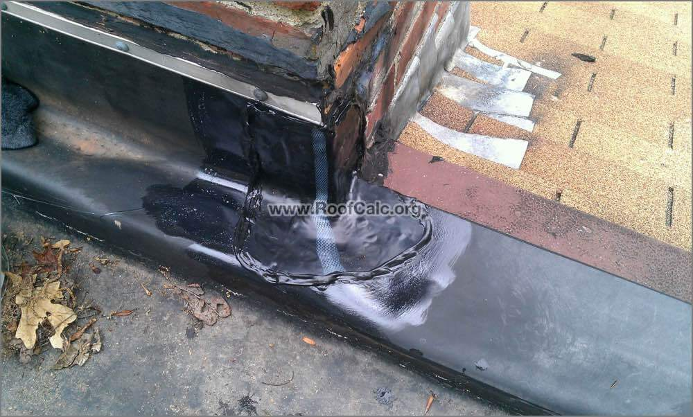 Install corner patch on rubber roof 7