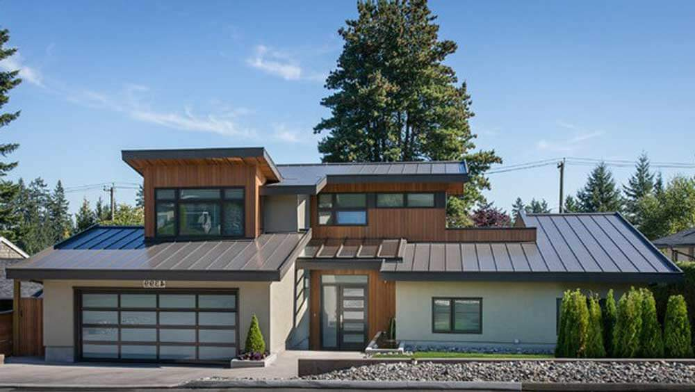 Standing seam metal roof modern for Modern metal homes