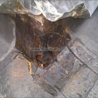 Repairing outside corner chimney flashing - remove old patch