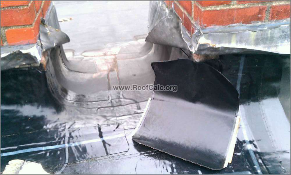 Rubber Roof Chimney Flashing Repair Installing 12 Inch