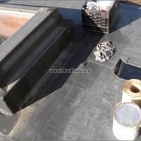 Skylight back flashing repair - before
