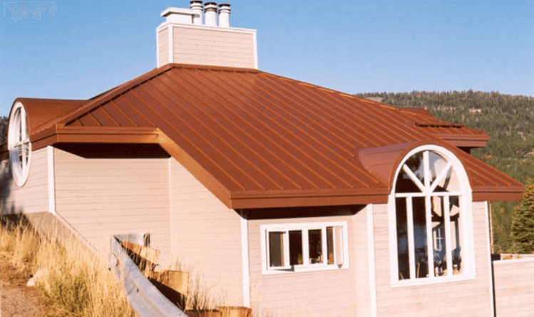 Standing seam metal roofing for homes for Homes with metal roofs photos