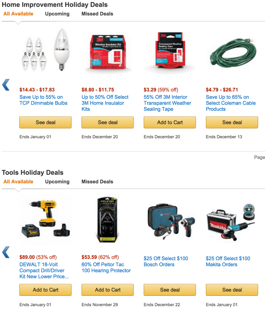 Amazon.com 2015 Black Friday deals on Tools and Home Improvement