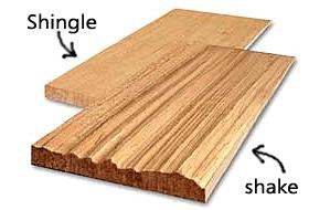 Cedar shakes vs shingles