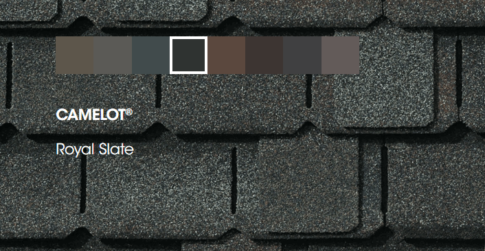 Camelot Shingles Color Options