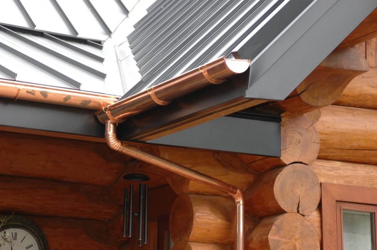 Seamless gutters cost estimate gutter prices per linear foot cost of copper gutters seamless solutioingenieria Gallery