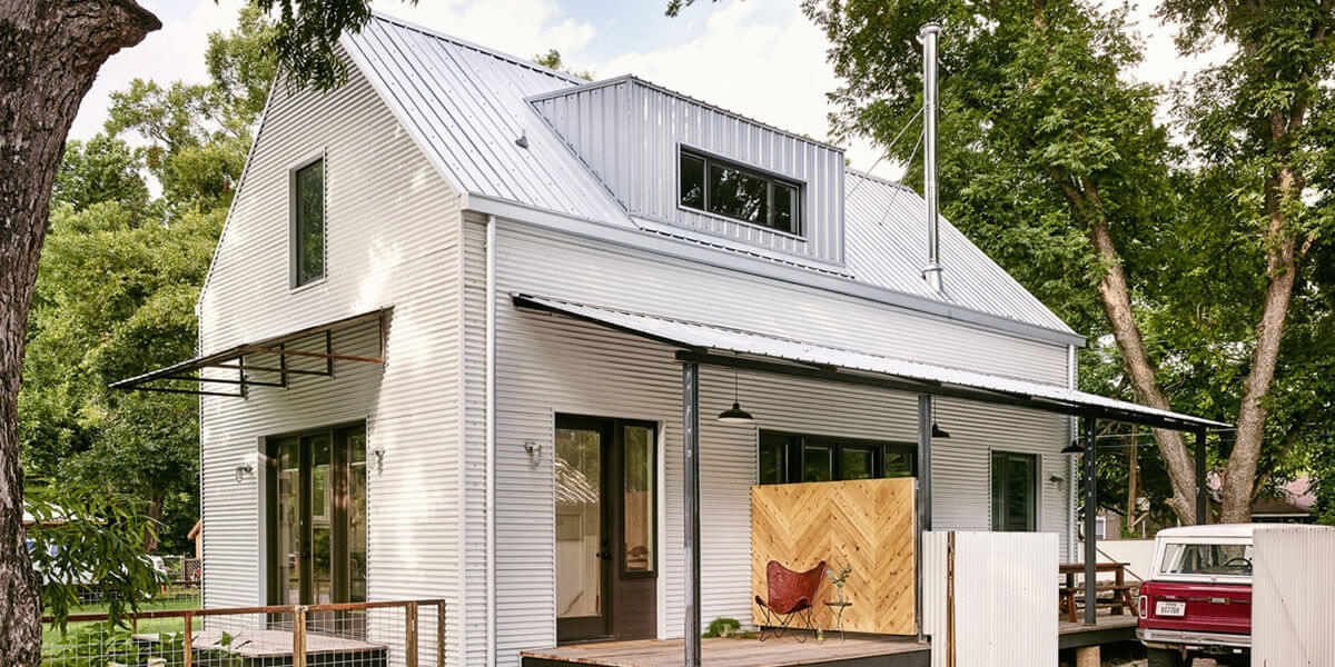 Corrugated Metal Panels On A Modern Farm Style Home Roofcalc Org