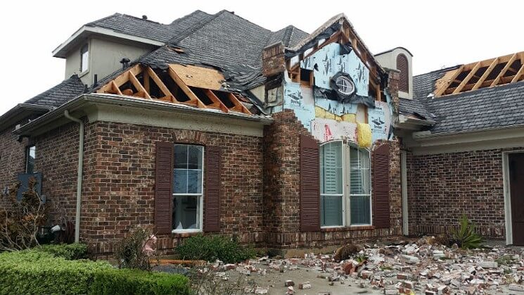 Damaged Roof in Houston TX after Harvey