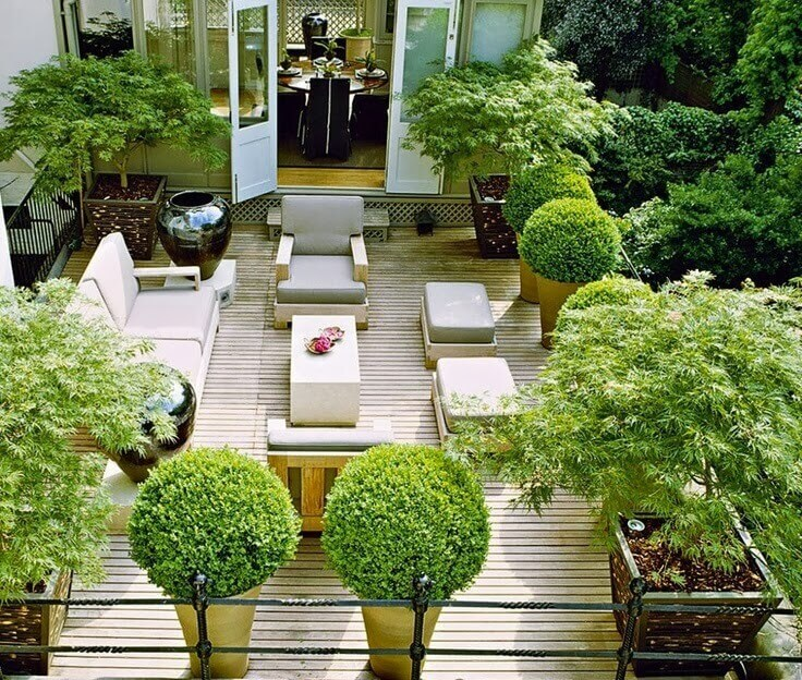 Flat Roof Design - Rooftop Garden