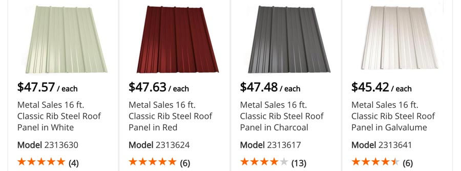 Lowe S Amp Home Depot Metal Roofing Prices