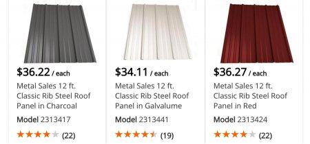 Home Depot R Panel Metal Roof Prices In Nh Roofcalc Org