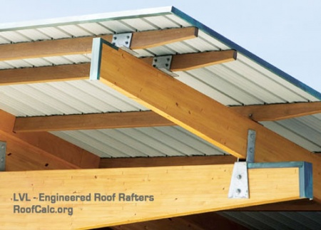 Image gallery roof rafters for Cost to roof a house calculator