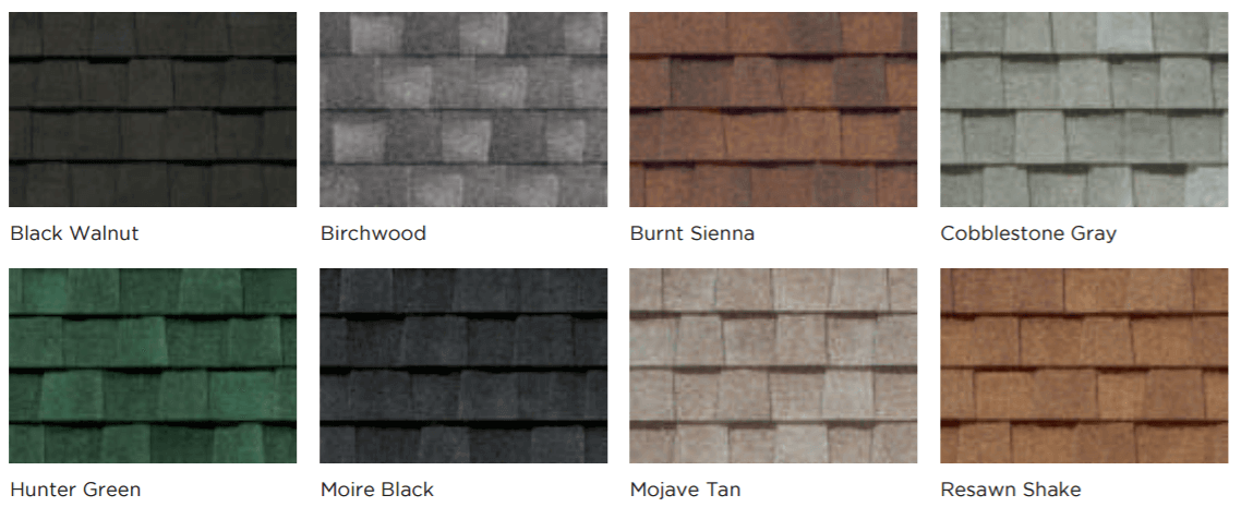 Colors for Certainteed Landmark Classic Shingles
