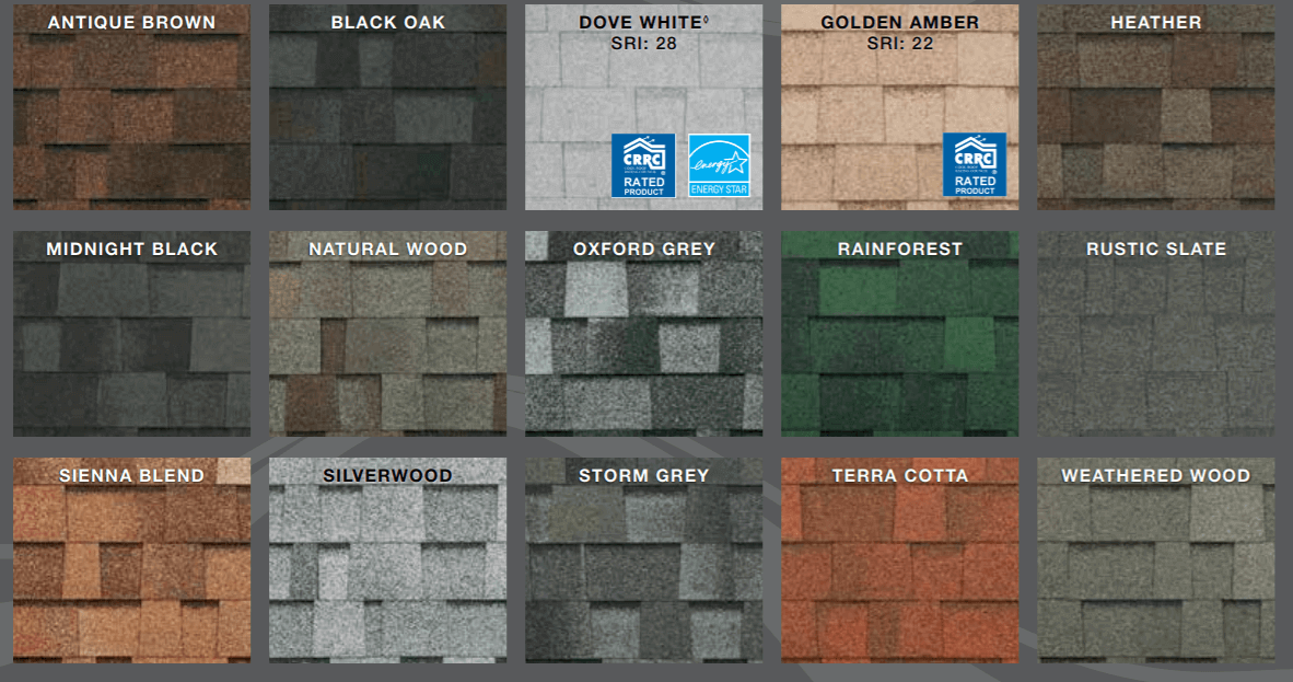 Malarkey Highlander Architectural Shingle Colors
