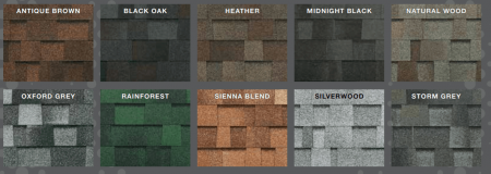 Legacy Shingles Colors