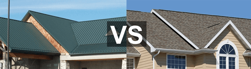 cost of Metal Roof vs Shingles