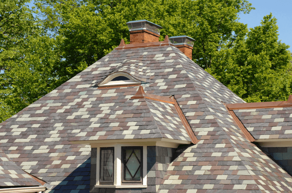 Charming Multi Color Slate Roof