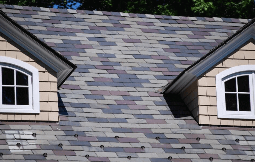 Multi color slate roof tile
