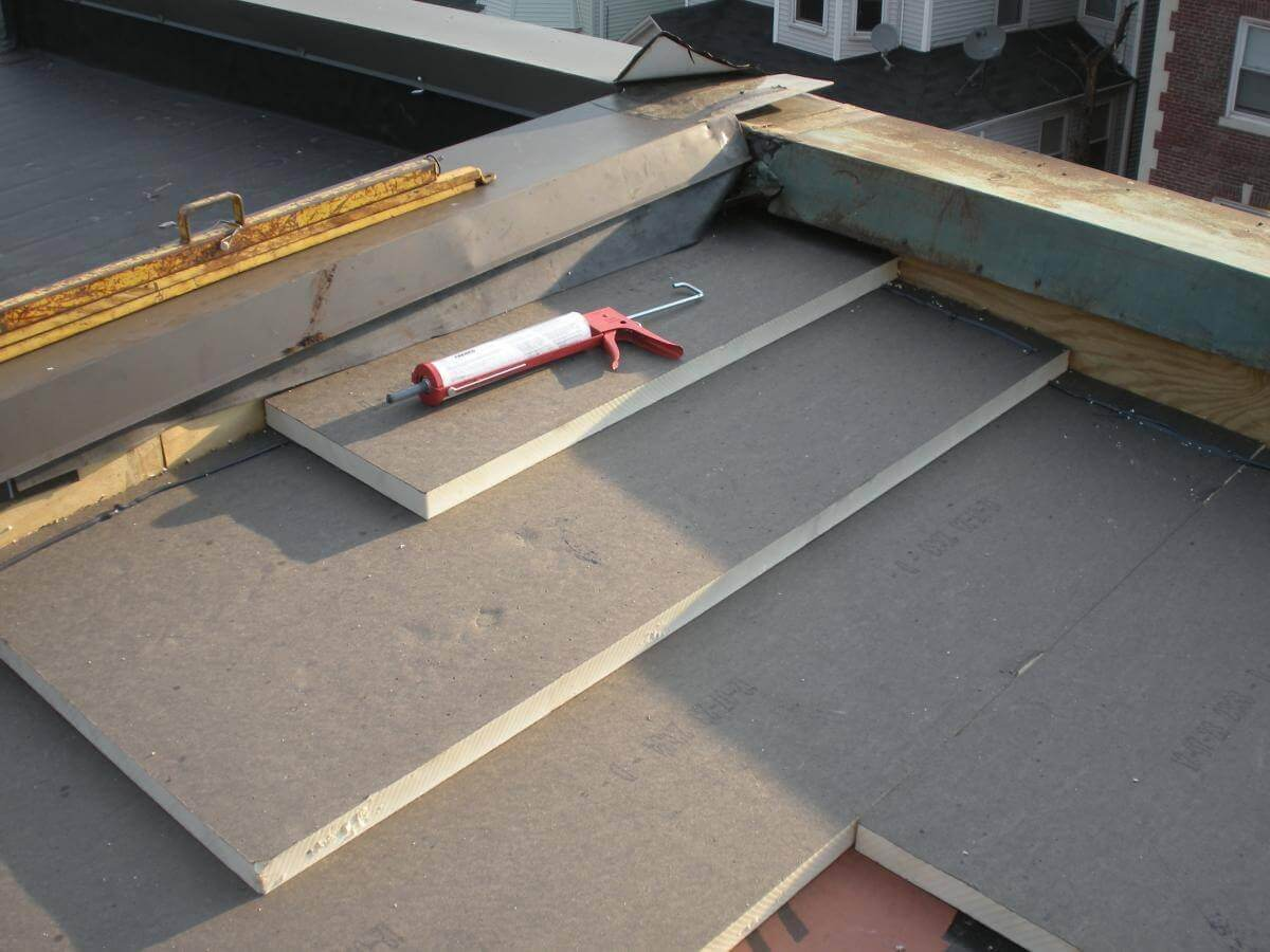 Polyiso flat roof insulation