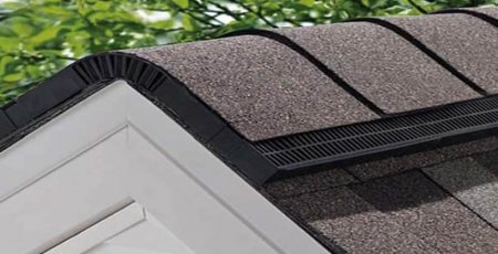 Ridge vent on a gable roof