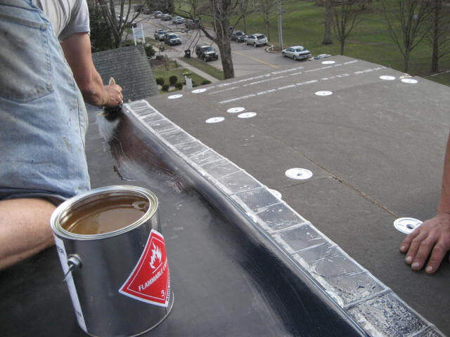 rubber roof installation - Rubberised Roof Membrane