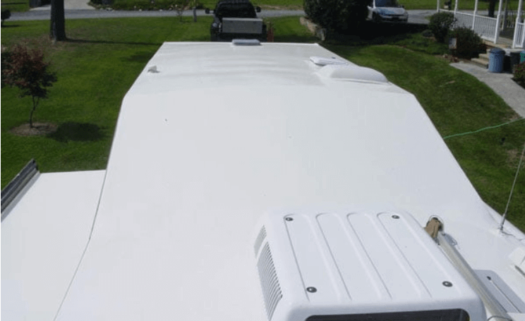 Rubber roof coatings for RV