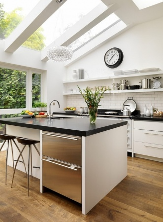 Skylight in a Modern Small Kitchen