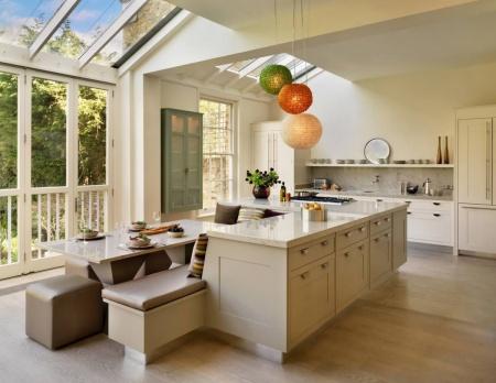 Good Skylight In A Modern White Kitchen