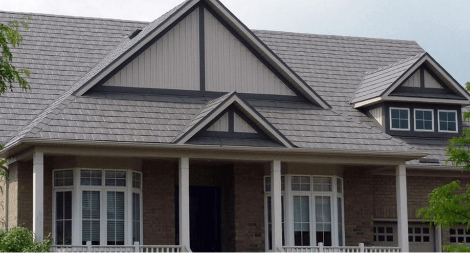 Slate Steel Shingles by Tamco
