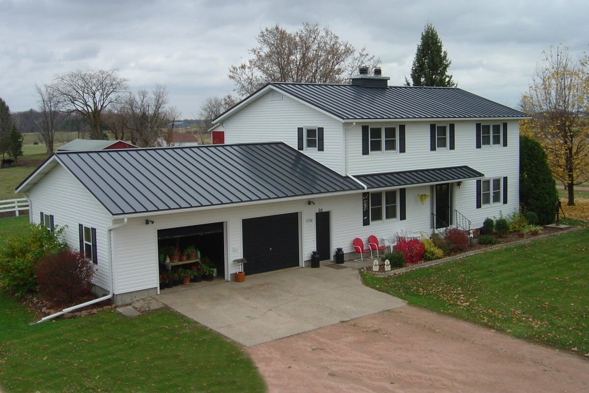 Raised Seam Roofing Colors - Charcoal Grey