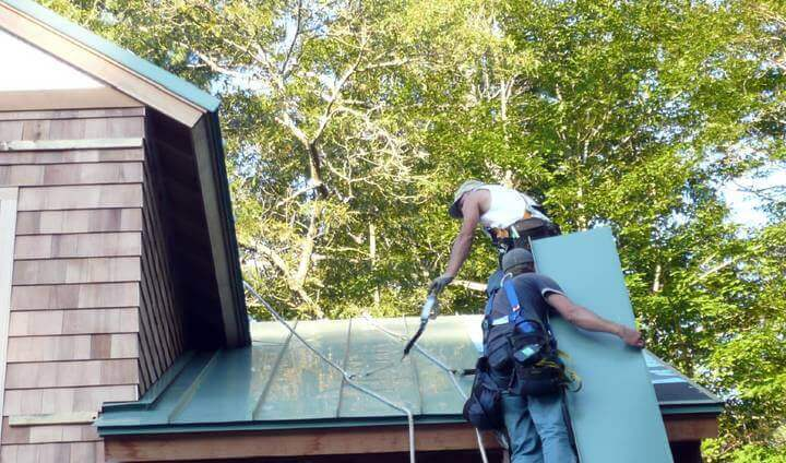 Raised Seam Roof Installation