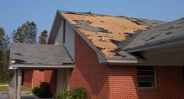 Storm Damaged Roof