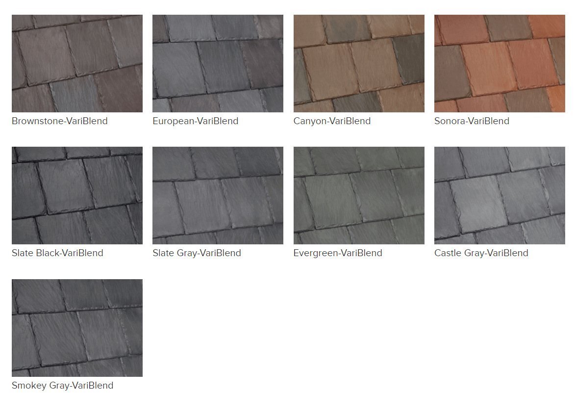 Artificial Slate Colors - Bellaforte Slate