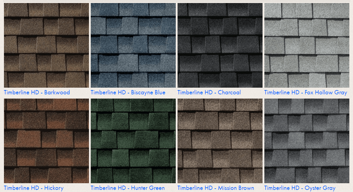 timberline vs landmark shingles: compare colors and styles