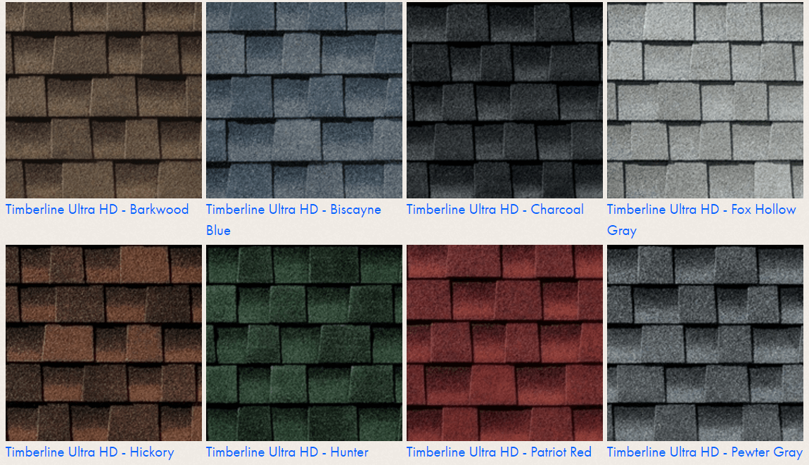 colors shingles timberline shingle architectural ultra gaf roof landmark compare styles choices certainteed cost grade below