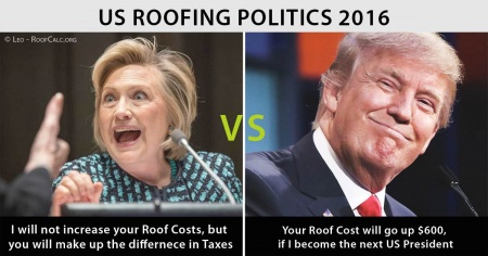 Presidential Roofing Calculator Trump Vs Clinton