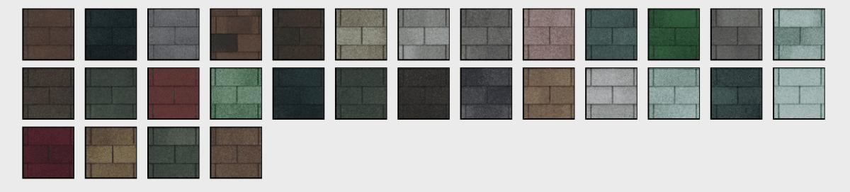 XT25 shingle colors